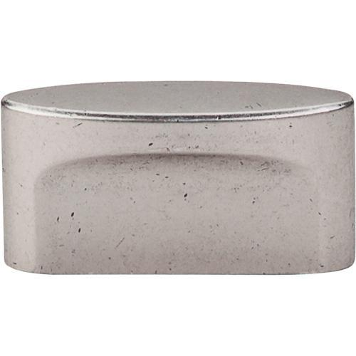 Top Knobs T-TK74PTA Sanctuary Pewter Antique Oval Knob - Knob Depot