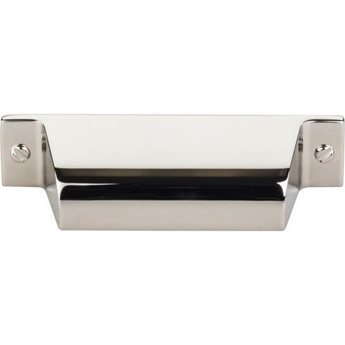 Top Knobs T-TK772PN Barrington Polished Nickel Cup Pull - Knob Depot