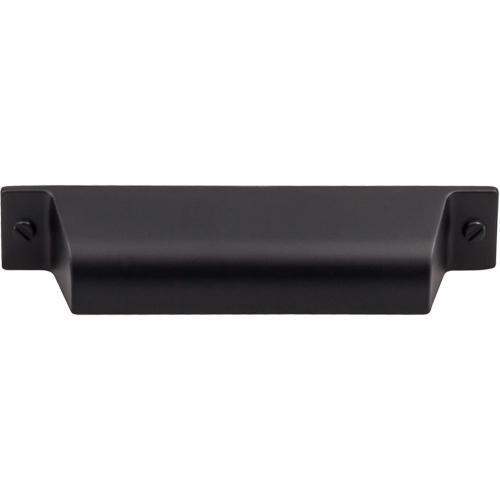 Top Knobs T-TK773BLK Barrington Flat Black Cup Pull - Knob Depot
