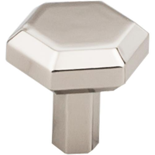 Top Knobs T-TK791PN Serene Polished Nickel Hexagon Hexagon Knob - KnobDepot.com