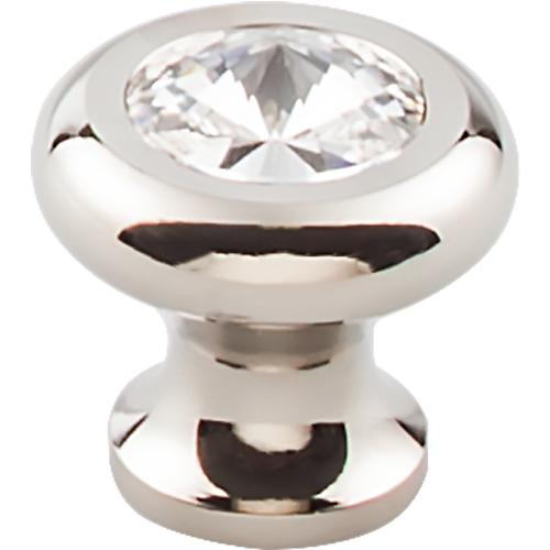 Top Knobs T-TK846PN Serene Polished Nickel Base Round Knob - Knob Depot