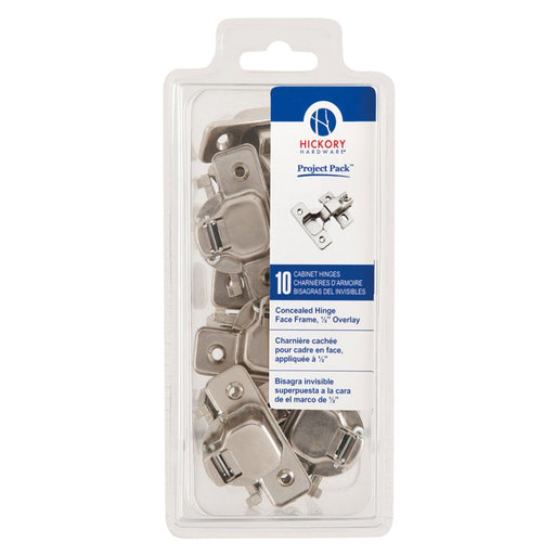Hickory Hardware H-VP5124-14 Functional/Project Pack Bright Nickel Hinge - KnobDepot.com