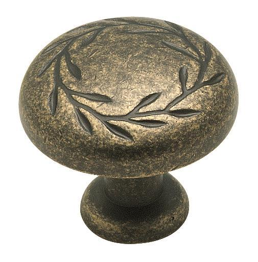 Amerock A-BP1581-R2 Inspirations Weathered Brass Round Knob