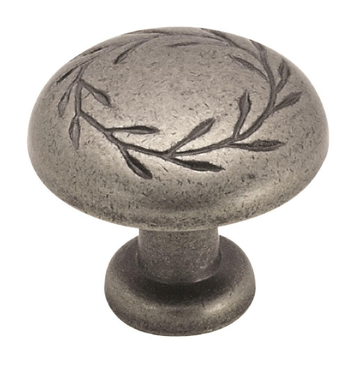 Amerock A-BP1581-WN Inspirations Weathered Nickel Round Knob - Knob Depot