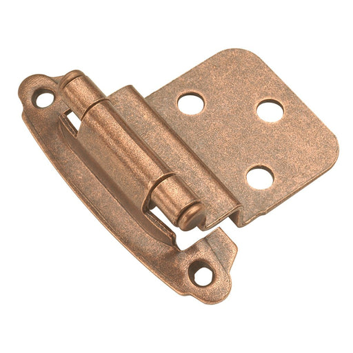 Hickory Hardware H-P243-AC Functional/Surface Self-Closing Antique Copper Hinge