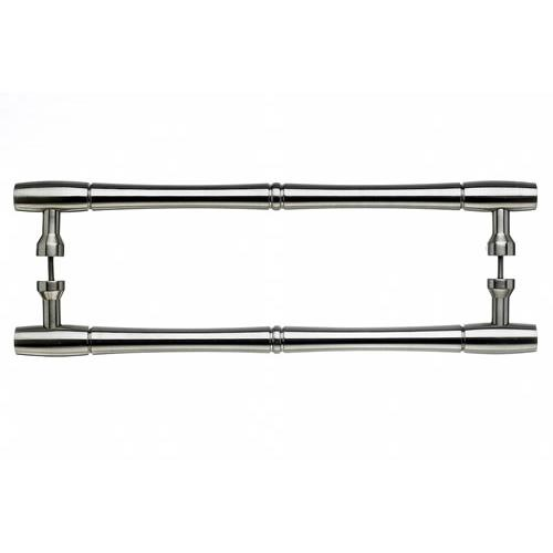 Top Knobs T-M723-18pair Nouveau - Back to Back Pulls Brushed Satin Nickel  Back to Back Door Pull - KnobDepot.com
