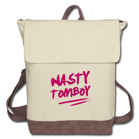 Nasty Tomboy Canvas Backpack - ivory/brown