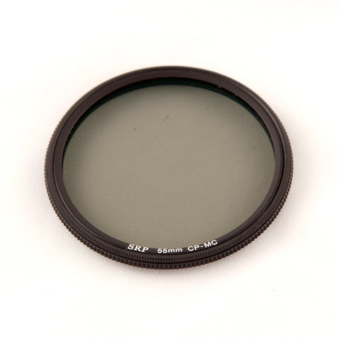 New 55mm Water and Oil Repelling Circular Polarizer Filter