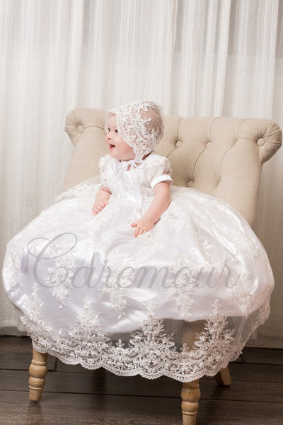 5a70cf3c2 Amelia Beaded Christening Gown, Baptism dress, baby girl christening g |  Caremour