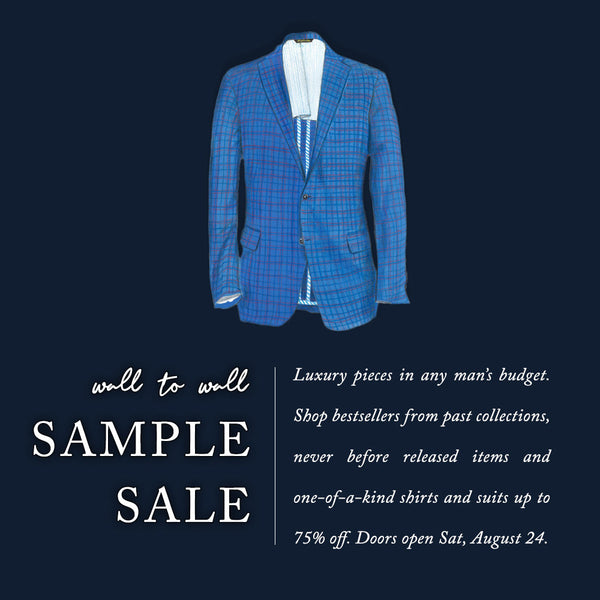 Beginning August 24: Wall-to-Wall Sample Sale Up to 75% Off!