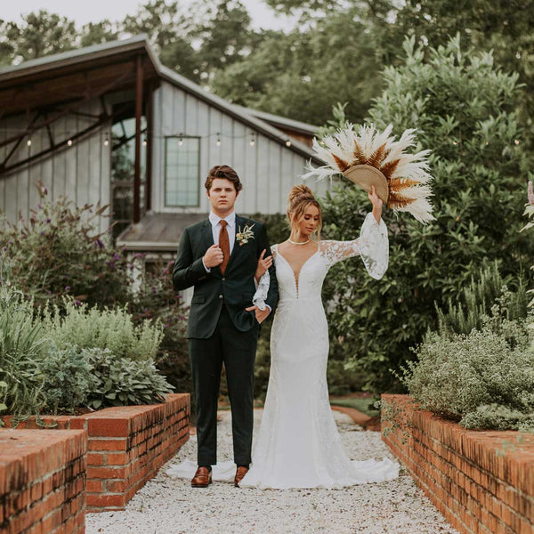 Modern Bohemian Groom's Suit Custom Made in Charlotte, NC