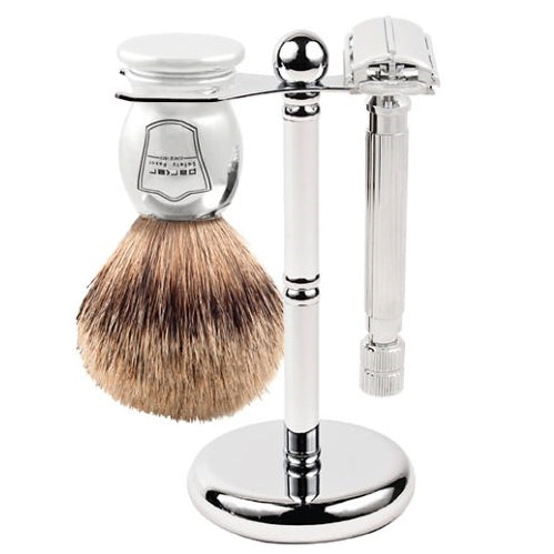 Safety Razor & Brush Shave Set