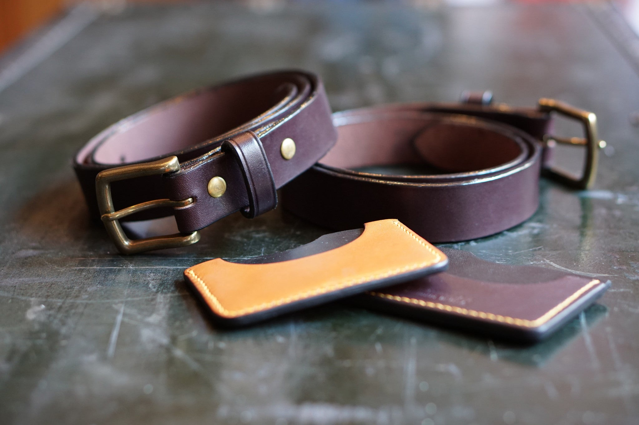 Havana Brown Leather Belt
