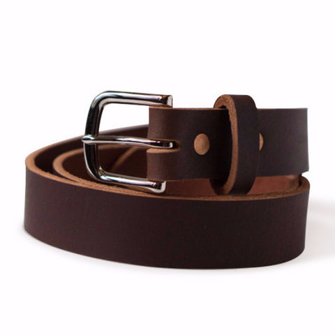The Buffalo Brown Leather Belt