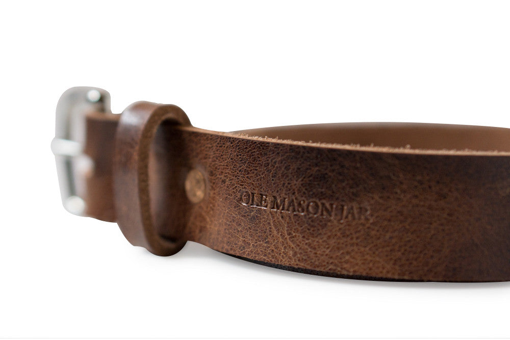The Tan Glazed Leather Belt