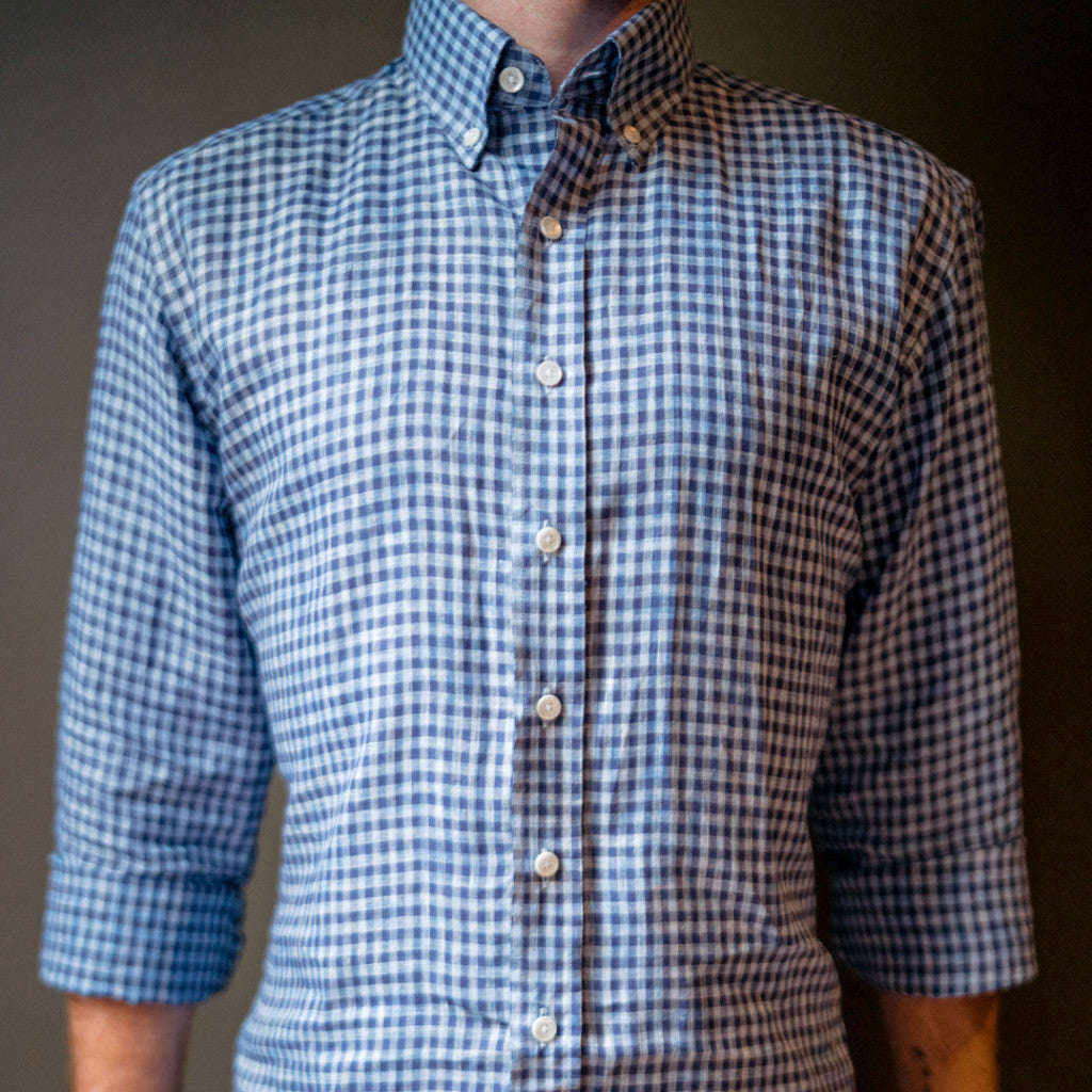 The Blue Gingham Linen