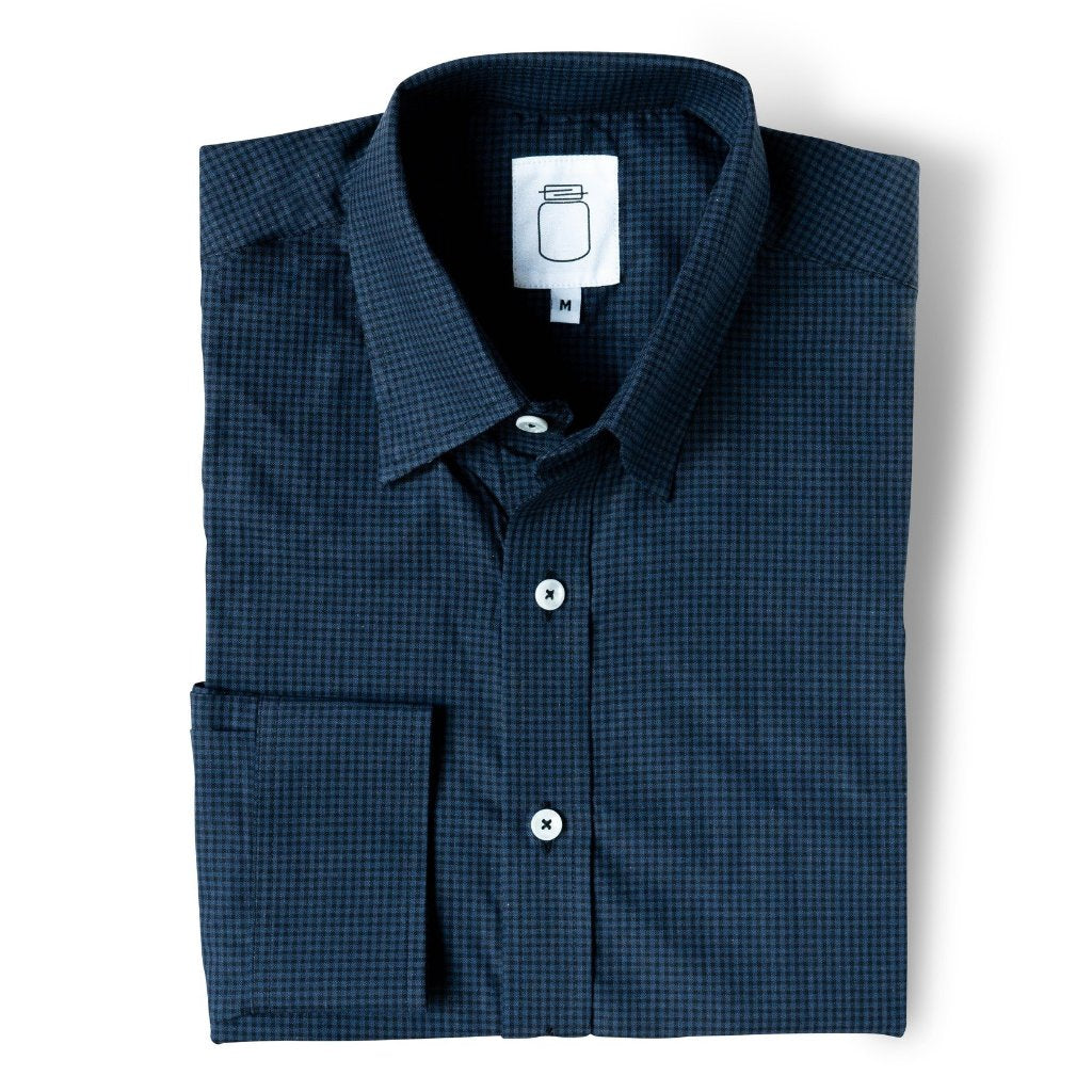 The Brushed Navy Check