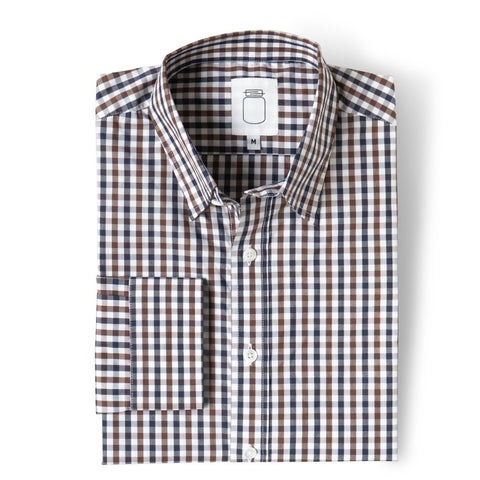 The Brown Pattern Poplin