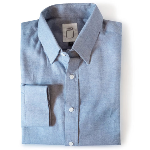 The Carolina Blue Textured Brushed Cotton