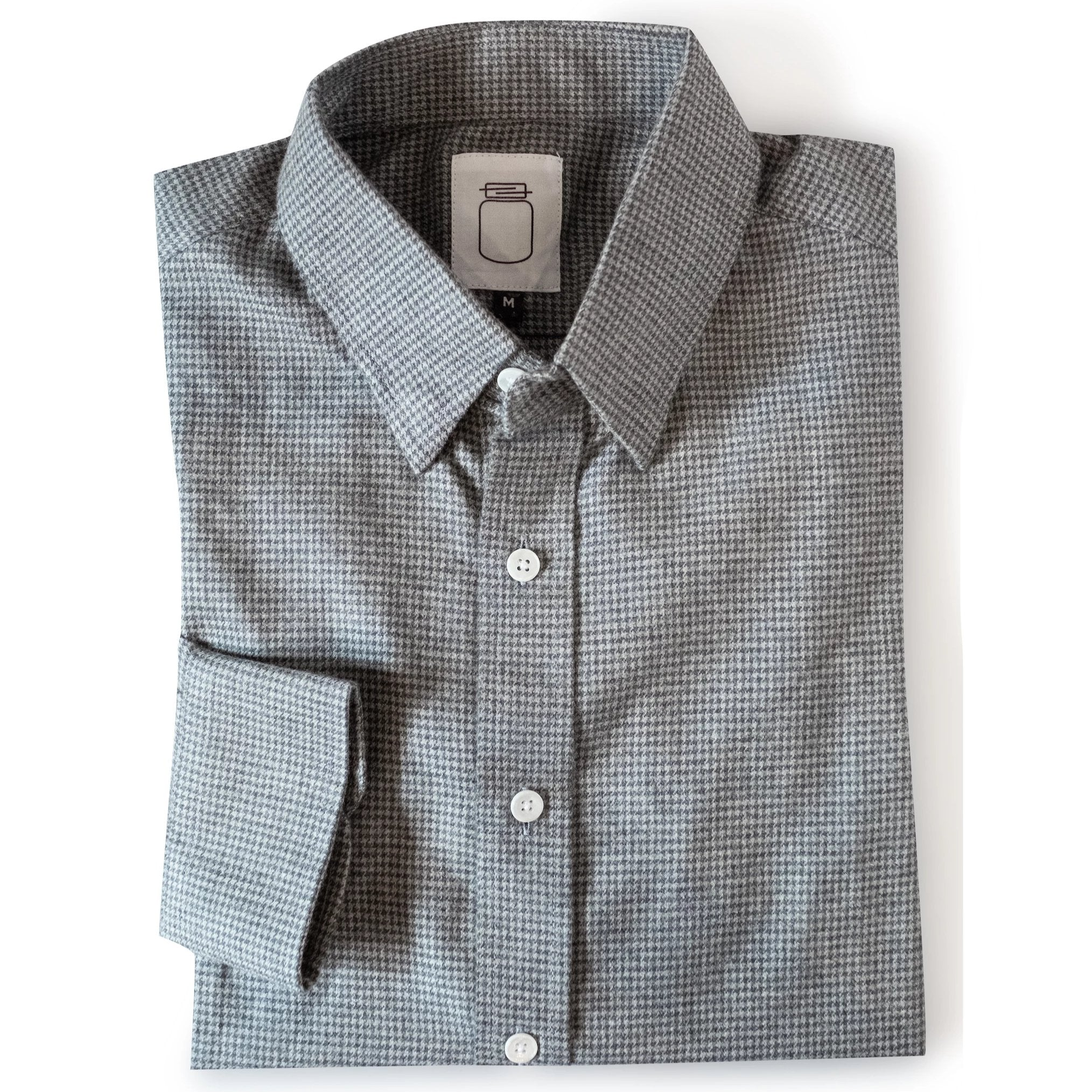 The Grey Houndstooth Brushed Cotton