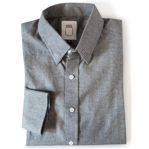 The Grey Houndstooth Flannel
