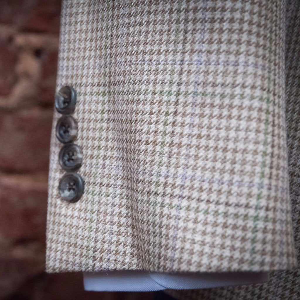 The Tan Houndstooth Linen