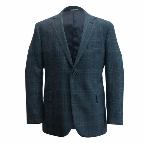 The Steel Blue Plaid Sport Coat