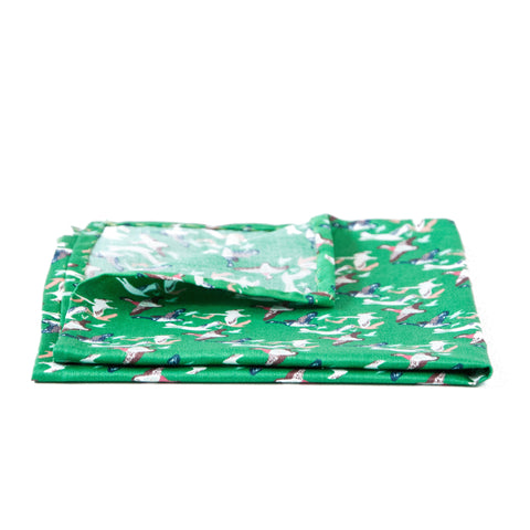 The Green Waterfowl Pocket Square