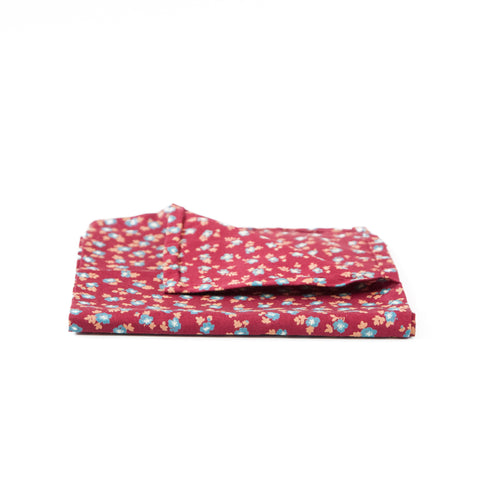 The Red Floral Pocket Square