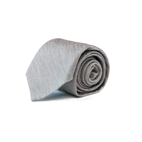 The Solid Taupe Tie