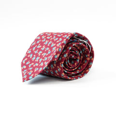 The Red Floral Tie
