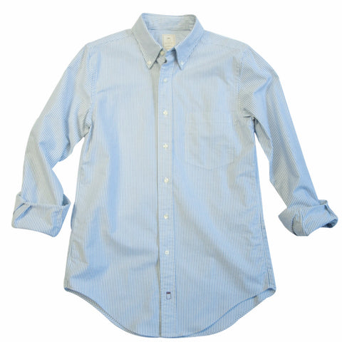 The Carolina Blue Stripe Oxford - Final Sale