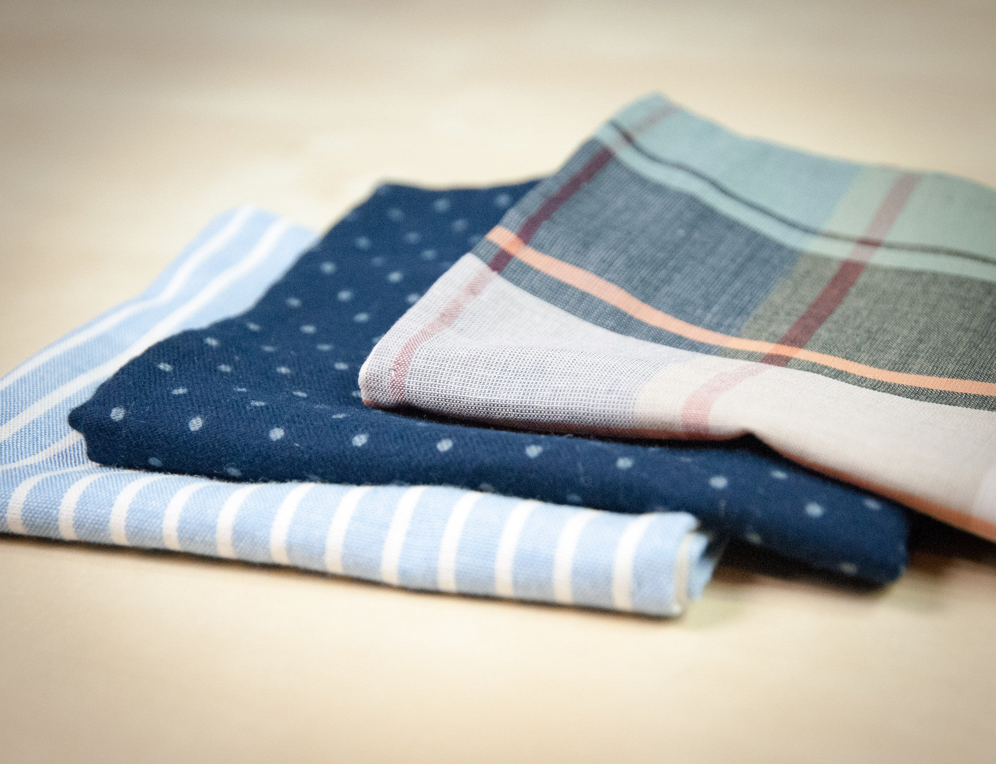The Indigo Selvedge Pocket Square - OLE MASON JAR