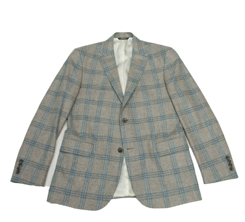 The Soft Grey Windowpane Sport Coat - OLE MASON JAR