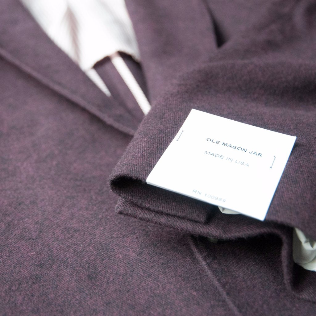 The Burgundy Brushed Cotton Sport Coat
