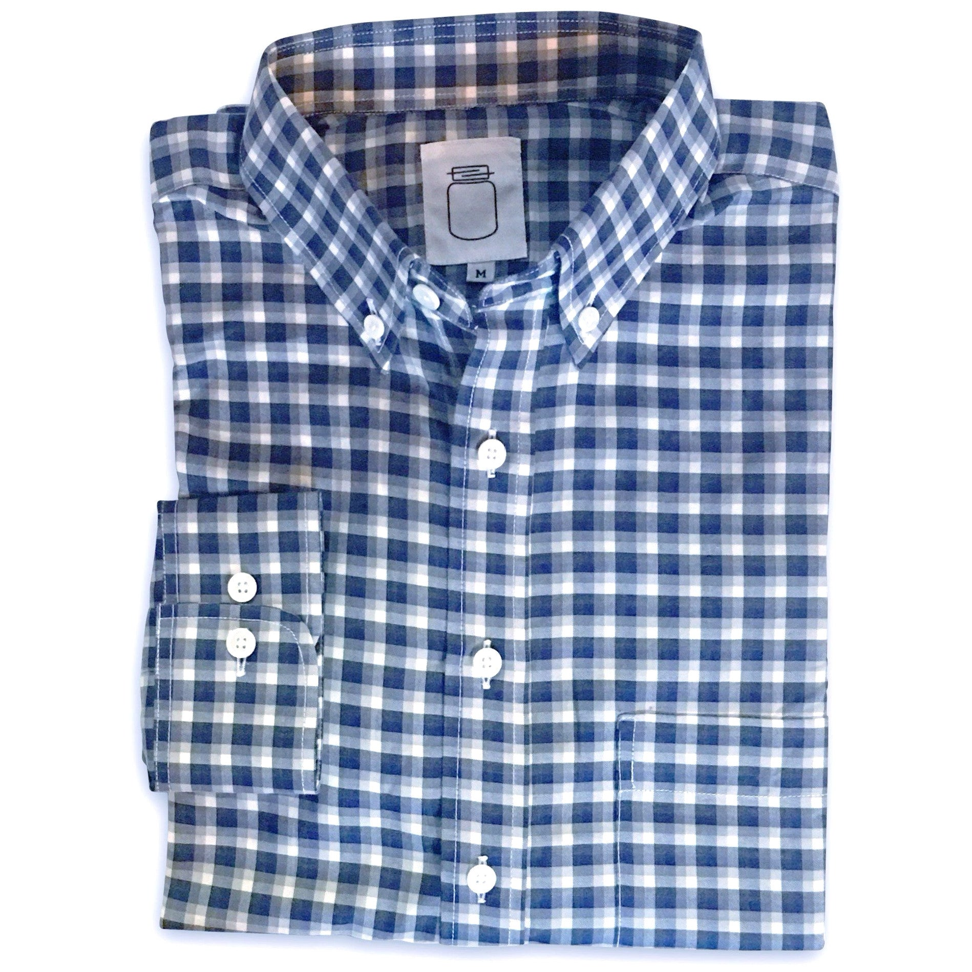 The Blue and Grey Plaid Brushed Cotton