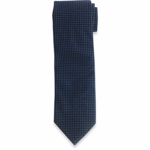 The Navy and Blue Dot Tie