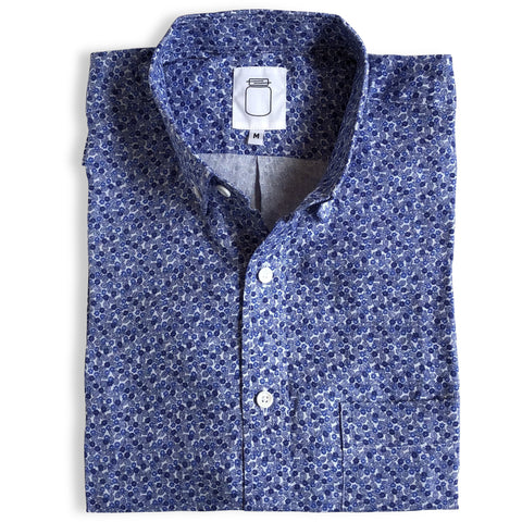 The Blue Brushed Cotton Dot