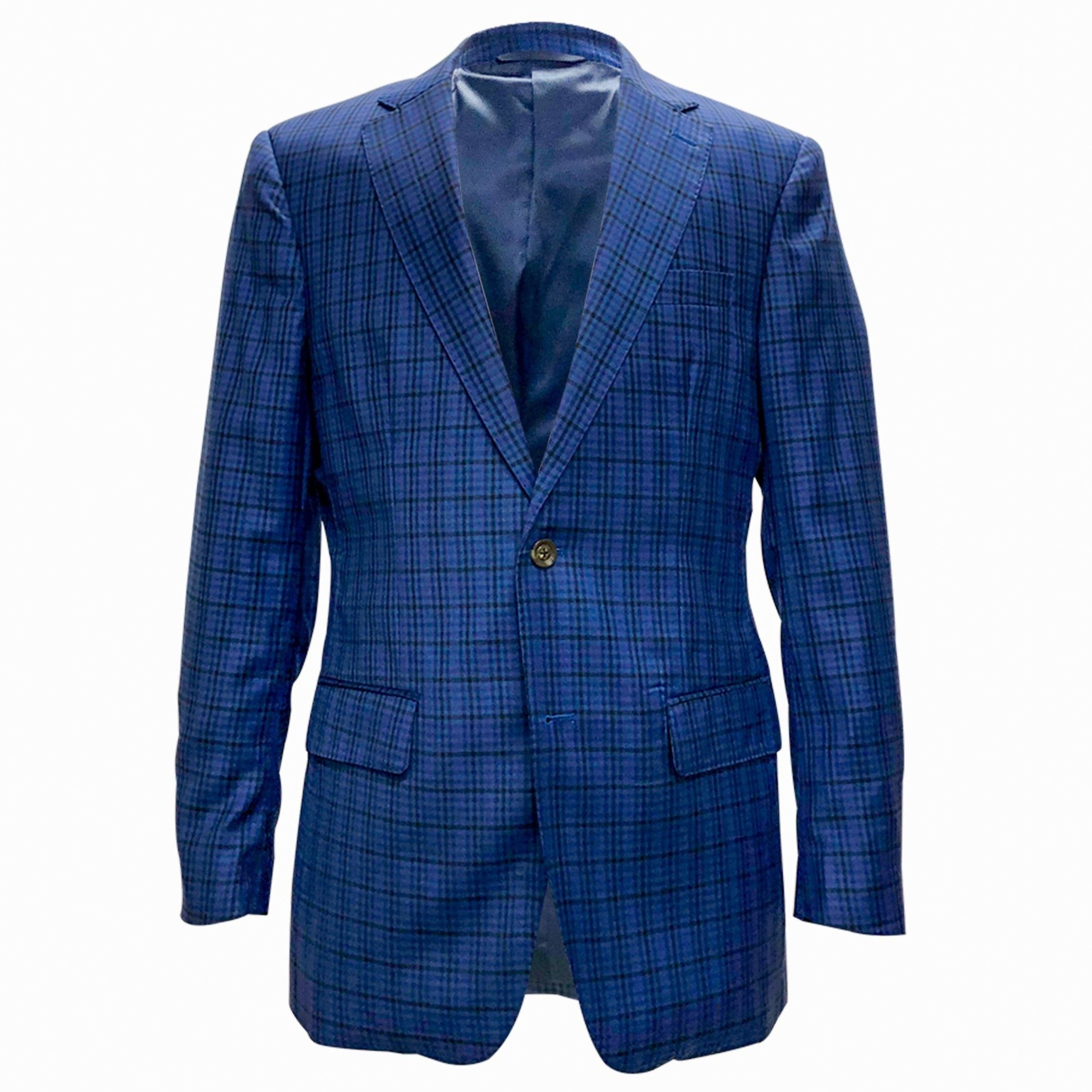 The New Blue Multi Plaid Sport Coat