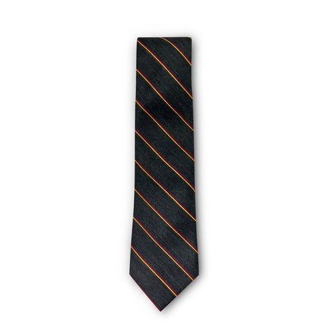 The Grey and Orange Stripe Tie