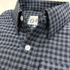 The Grey and Blue Gingham Flannel