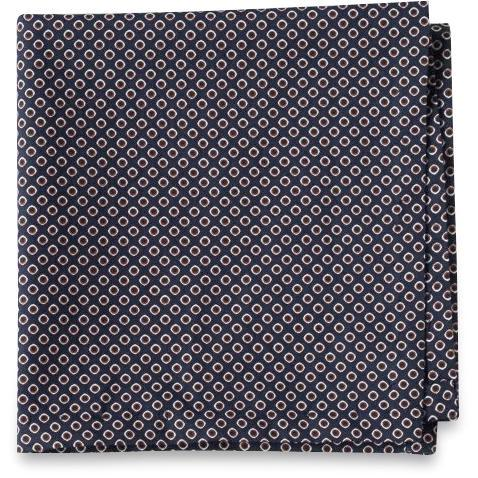 The Brown Patterned Pocket Square