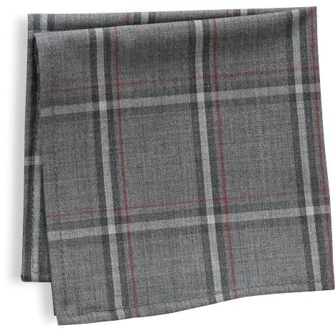 The Grey Plaid Pocket Square