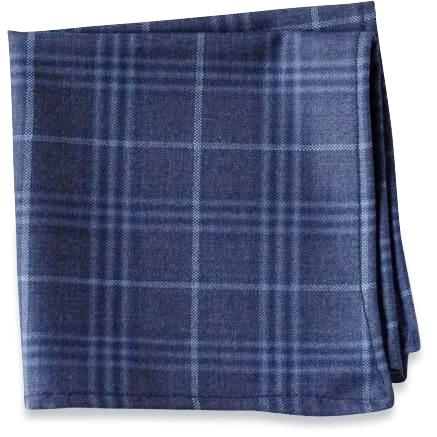 The Blue Plaid Pocket Square