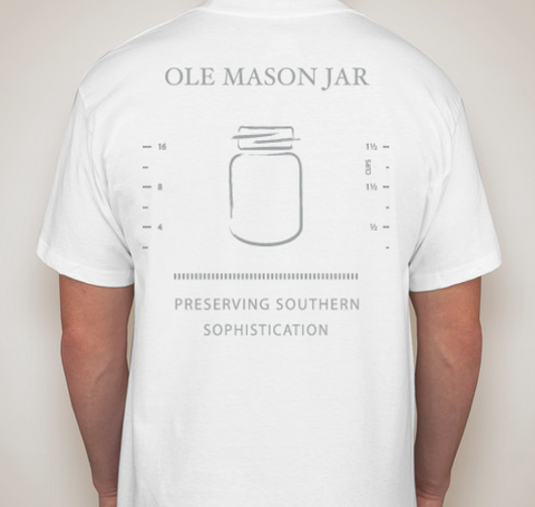 Measuring Jar Pocket Tee - White - OLE MASON JAR