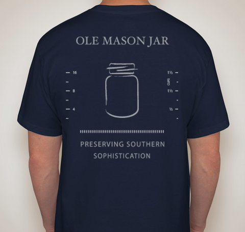 Measuring Jar Pocket Tee - Navy - OLE MASON JAR