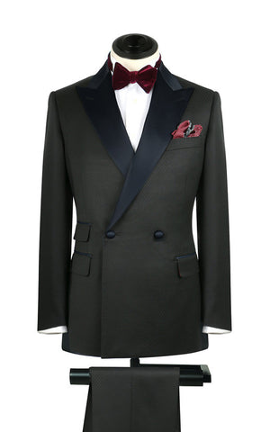 Black Fish Scale Tux