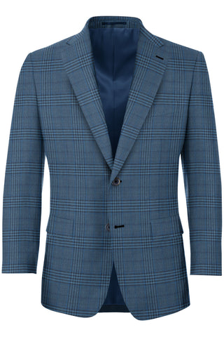 Yale Blue Glen Plaid Sport Coat