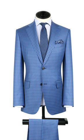 Maya Blue Check 2PC Suit