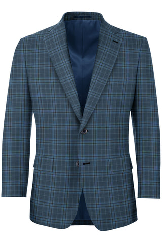 Pigeon Blue Plaid Sport Coat